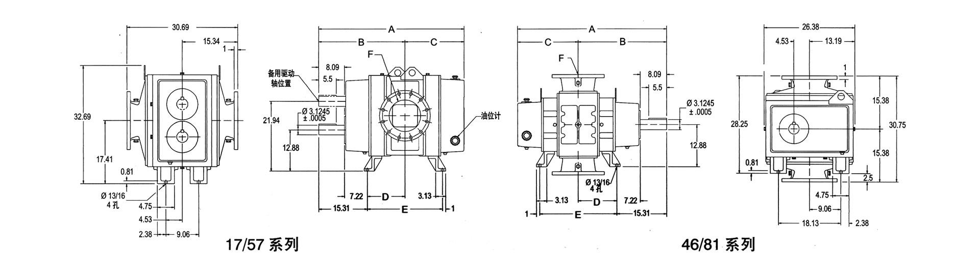 """PD Plus系列鼓风机为高级重负载风机,型号齐全,生产历史悠久,齿距从3.25""""到12"""",转子长度从2.5""""到48"""",该系列风机以高质量、高可靠性、性能杰出而享有盛誉。 产品特点: 该系列风机有多种材质和密封形式供选择,以满足不同介质气体输送的需要;比普通风机多一个轴承,该轴承安装在驱动轴外侧,确保了PD Plus系列风机在重负载工况下比普通风机更经久耐用。机体外壳采用特殊设计更加结实可靠,能在高温高压下安全可靠运行。该系列风机最大风量为15,764m³/h,最高压力可达1."""